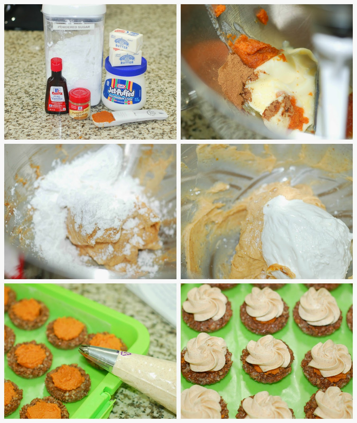 Making pumpkin fluff frosting by The Sweet Chick