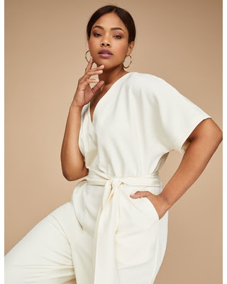 lane bryant womens dolman sleeve jumpsuit 24 antique white - MY GRADUATION OUTFIT IDEA...NEED YOUR HELP