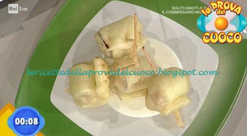 Involtini di melanzana con prosciutto e fiocchi di latte ricetta Valbuzzi da Prova del Cuoco