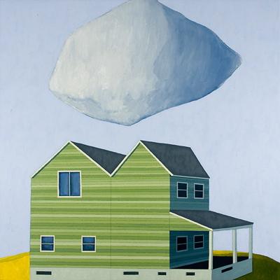 Double House, 2008 por Scott Redden - Oil on linen