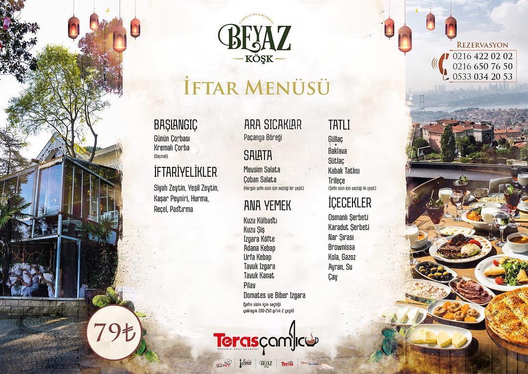 çamlıca iftar mekanları çamlıca iftar menüsü çamlıca iftar fiyat çamlıca iftar yapılacak yerler