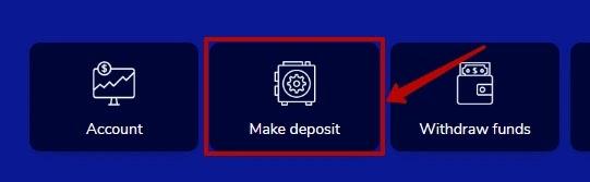 Создание депозита в CryptoNode