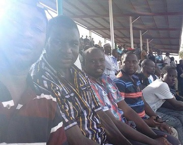 Buhari Winning War Against Boko Haram: See Crowd Beseech Maiduguri Stadium Watching 1st Match In 4years