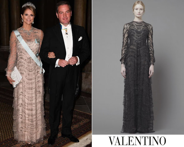 Princess Madeleine wore Valentino Pre-Fall 2013 Longsleeve Gown