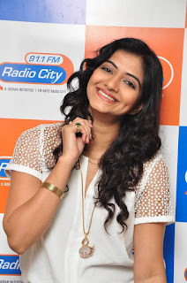 Kshmira Kulkarni BeautifuL Dimple Smile white Shirt at Drishya Kavyam Movie Team at Radio City