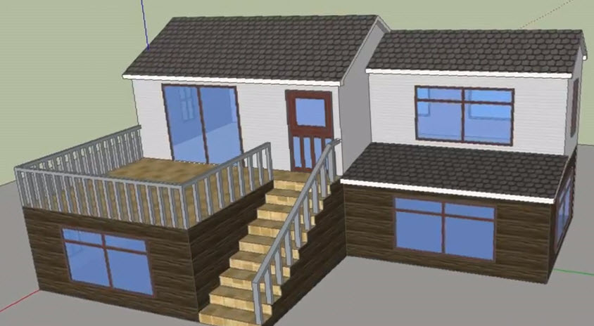 Steps to drawing a 3d house model using google sketchup for Google 3d design sketchup
