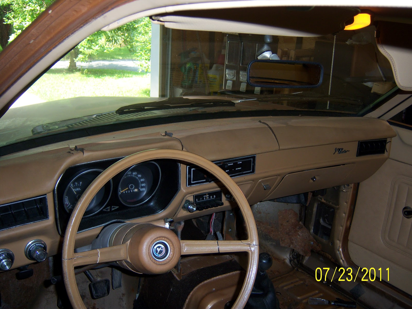 1976 Ford Pinto The Pinto Dashboard And Steering Wheel