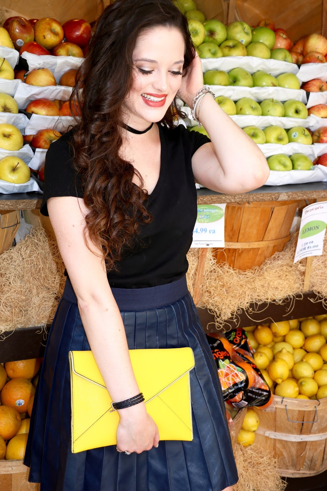 yellow envelope clutch