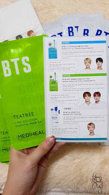 Review; Mediheal X BTS' Moisture Barrier Care Special Set; Teatree Care Solution Essential Mask Ex.