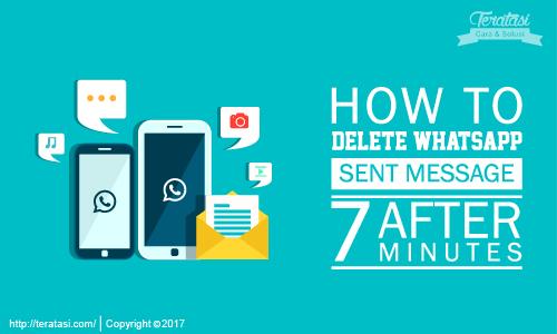 kita bisa menghapus pesan whatsapp atau WA yang telah terkirim meski waktu pesan tersebut telah lebih dari 7 menit sejak terkirim