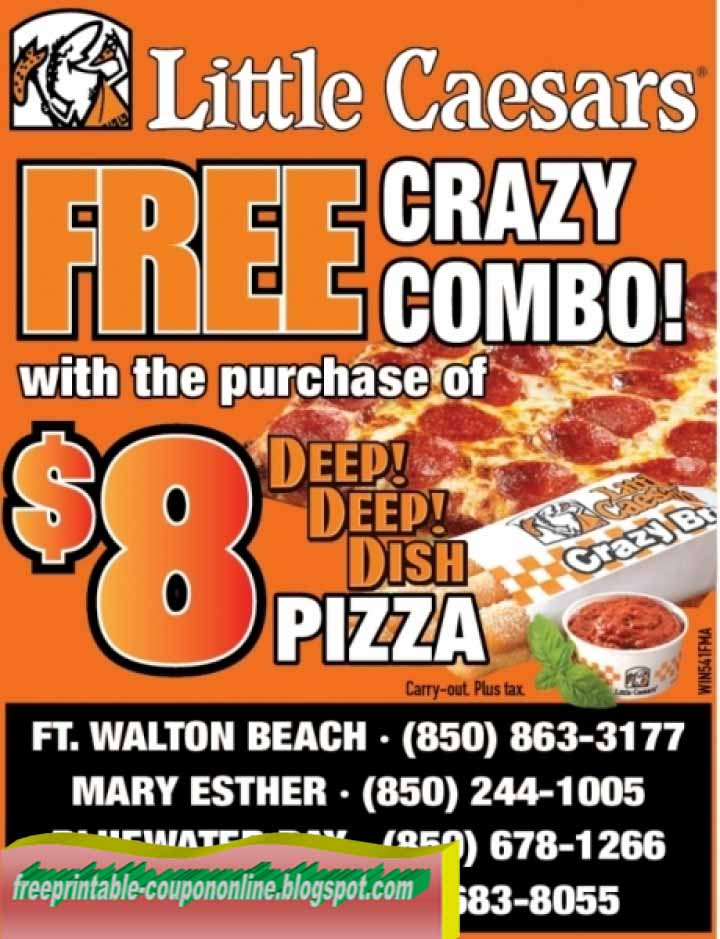 Jan 30,  · Print coupon and get 8 pieces of crazy bread and crazy sauce for $ with the purchase of a pizza, valid at all Little Caesars pizza restaurants. Little Caesars Coupon – Rib Smackers Print coupon and receive a 6-piece rib smackers order for $5, valid at participating Little Caesars locations/5(7).