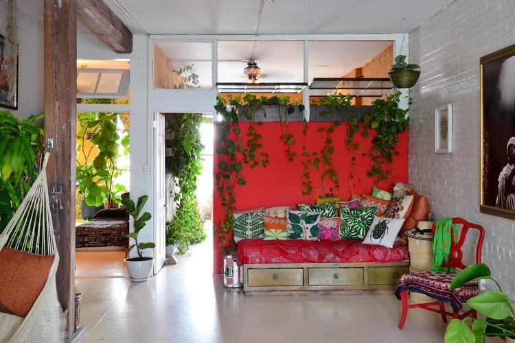 Attractive Indoor Jungle Secret Garden Apartment In Brooklyn