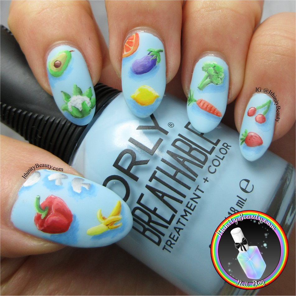 Freehand Fruit & Vegetable Nails | IthinityBeauty.com Nail Art Blog