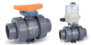 thermoplastic floating ball valves for industrial use