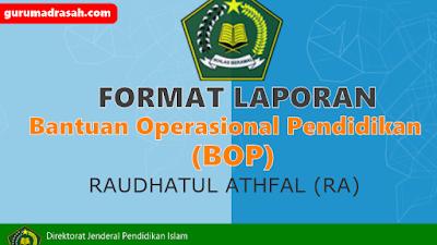 Format Laporan Pertanggung Jawaban Dana BOP RA