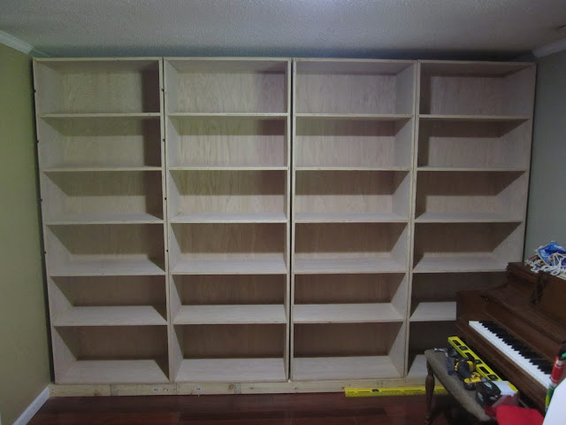 Floor To Ceiling Bookshelves Plans: Riverbend Journal: Building Built-In-Bookcases: Part Two