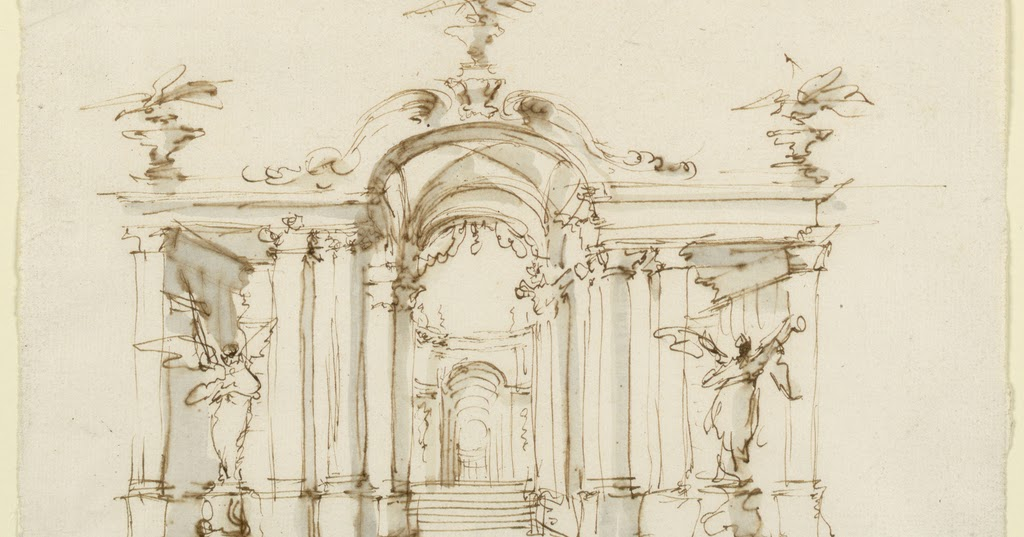 Spencer alley 18th century design drawings for Garden loggia designs