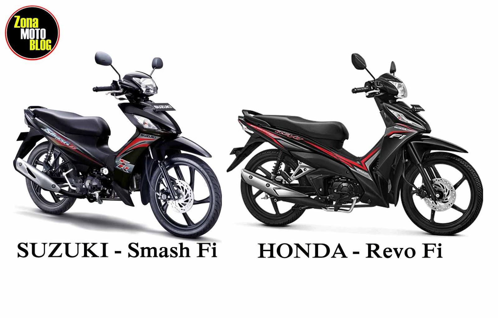 Adu Komparasi Suzuki Smash Fi Dengan Honda Revo Fi