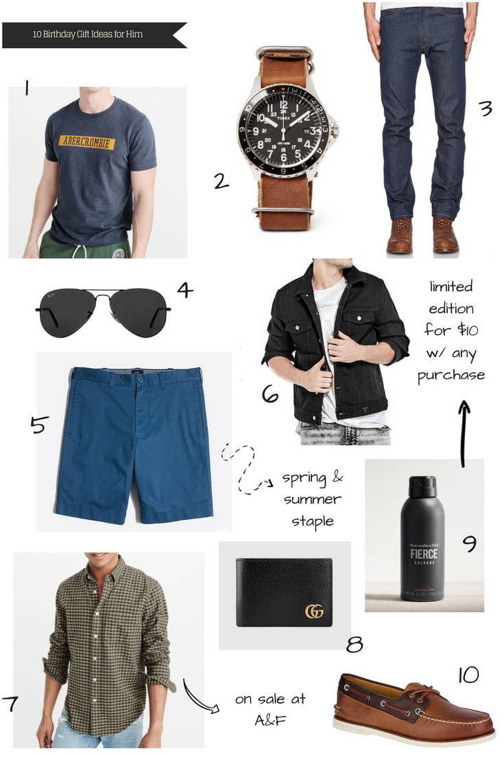 A Glad Diary 10 Birthday Gift Ideas For Him