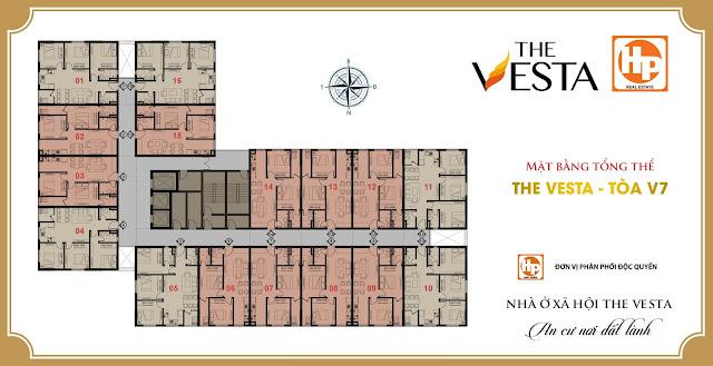 Mặt bằng tòa V7 - The Vesta