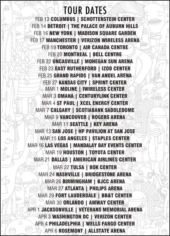 maroon five tour dates
