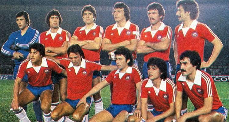 Formación de Chile ante Brasil, amistoso disputado el 24 de junio de 1980