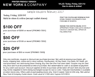 free New York And Company coupons february 2017