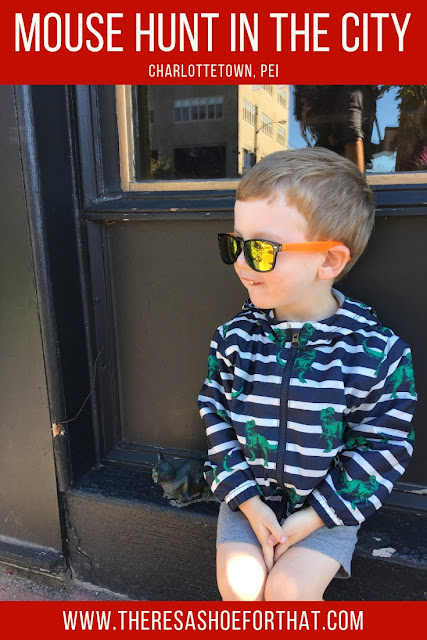 A free mouse hunt in Charlottetown, PE is the perfect family activity as well as great way to explore downtown. #travel #toddlertravel