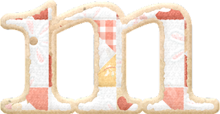 Alfabeto Blanco con Flores y Parches.