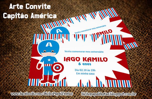 Convite Capitão América