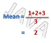 java find the mean of many numbers 1 2 3 4 5