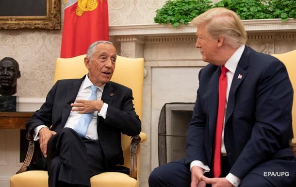 Президент Португалії передав Трампу привіт від Путіна