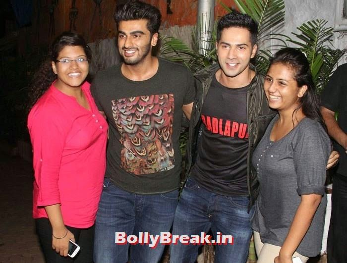Arjun Kapoor, Varun Dhawan, Varun, Yami, Shruti, Nargis Pics from Badlapur Movie Wrap up party