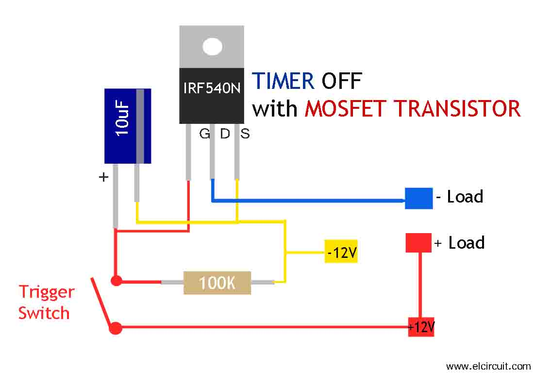 mosfet timer circuit simple and easy to make electronic not gate circuit diagram not gate circuit using mosfet