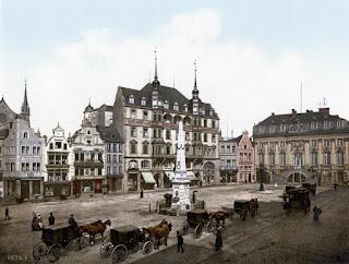 Bonn um 1900 - Marktplatz mit Rathaus