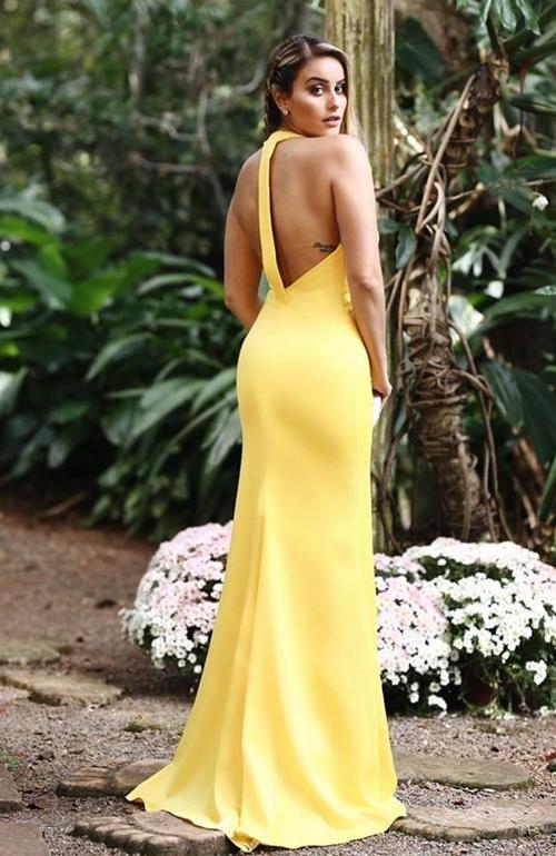 vestido amarelo madrinha