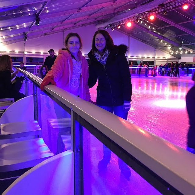 steph and sasha on ice rink