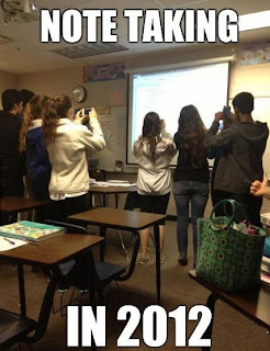 Do you let students take pictures of notes, students taking pictures of notes