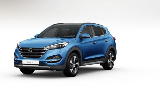colori Nuova Hyundai Tucson 2016 Blu Chiaro - Ara Blue davanti frontale