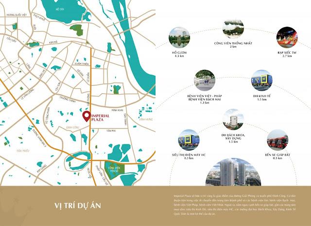 Vị trí chung cư Imperial Plaza