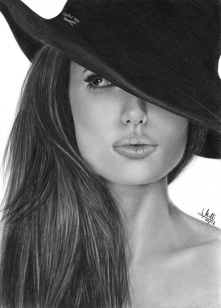 04-Angelina-Jolie-Isabel-Morelli-iSaBeL-MR-Pencil-Black-Pastel-and-Charcoal-Portrait-Drawings-www-designstack-co