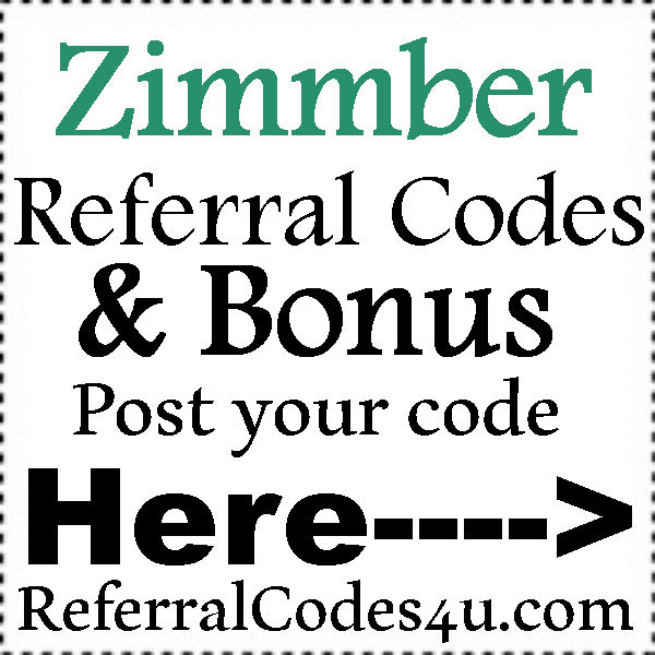 Zimmber Referral Code 2016-2021, Zimmber App Refer A Friend, Zimmber Coupons July, August, September