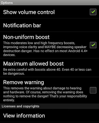 Speaker Boost Settings