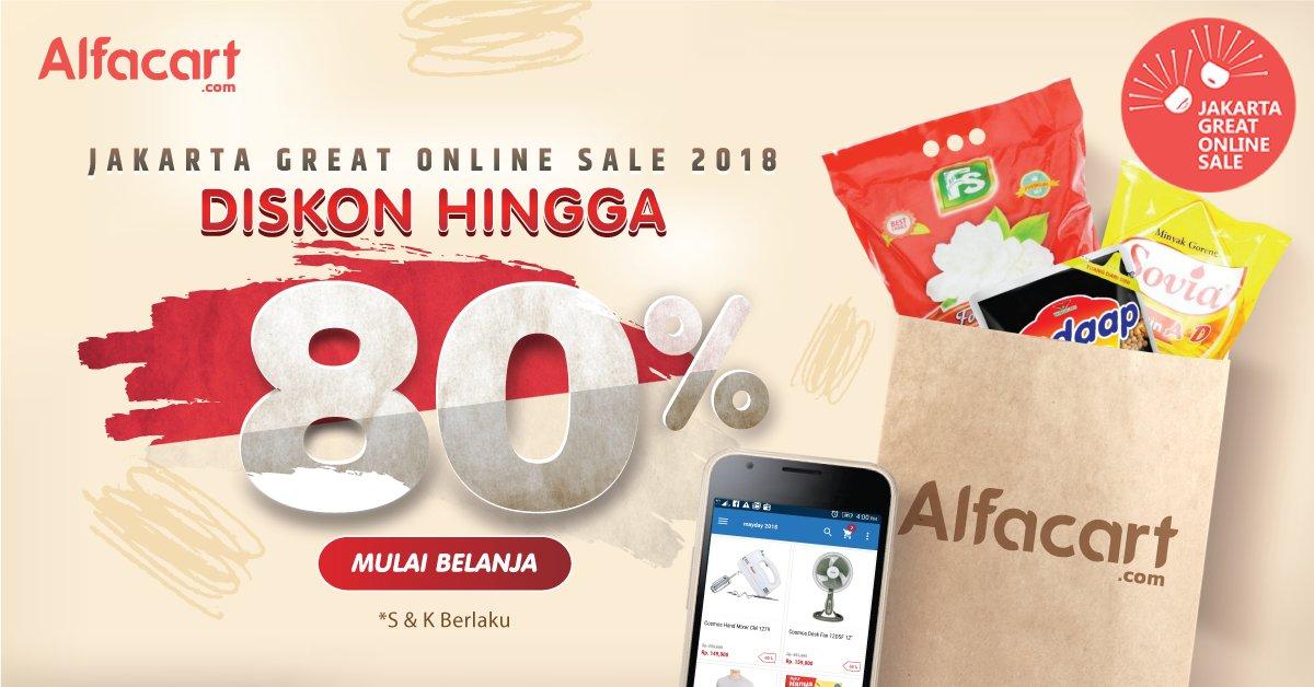 Alfamart - Promo Diskon s.d 80% Jakarta Great Online Sale 2018 di Alfacart