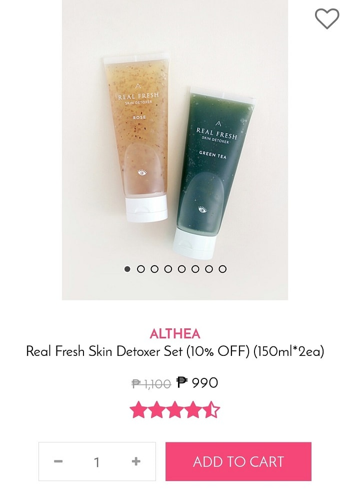 Review: Althea Real Fresh Skin Detoxer, face mask, althea korea