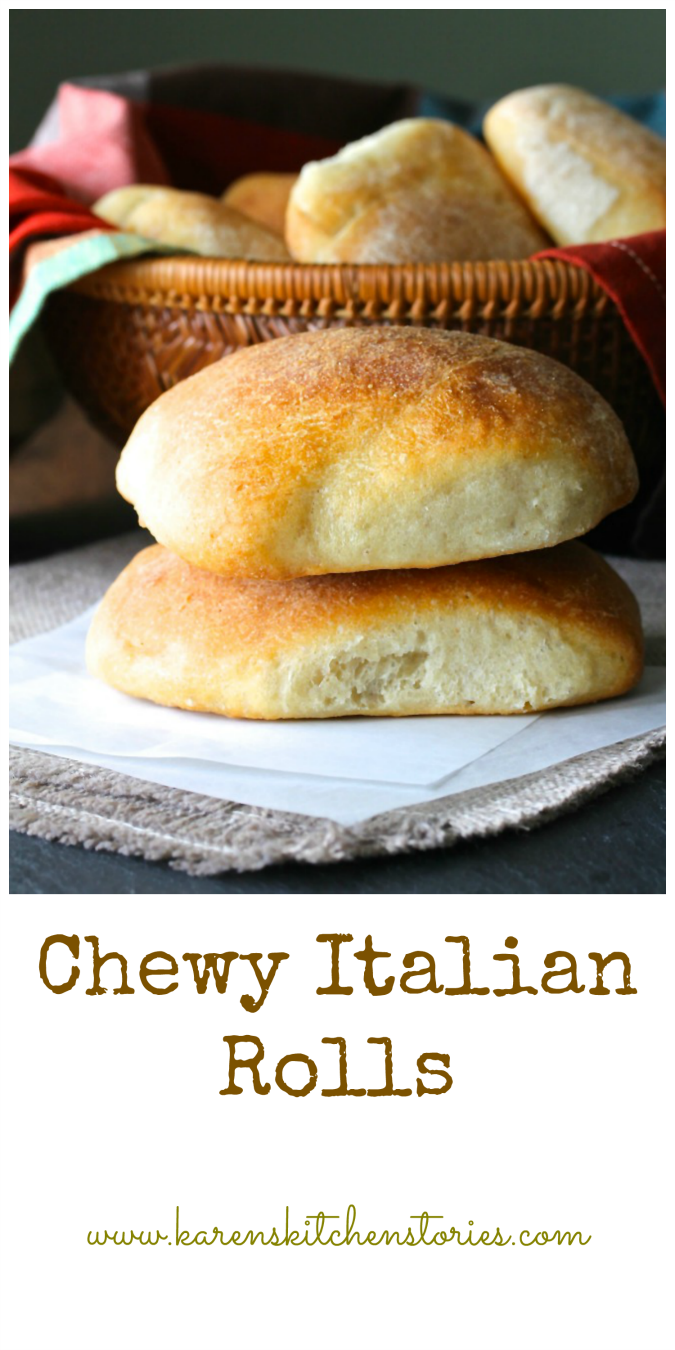These Chewy Italian Dinner Rolls are like mini ciabattas... airy, crunchy, and perfect for soaking up sauces.