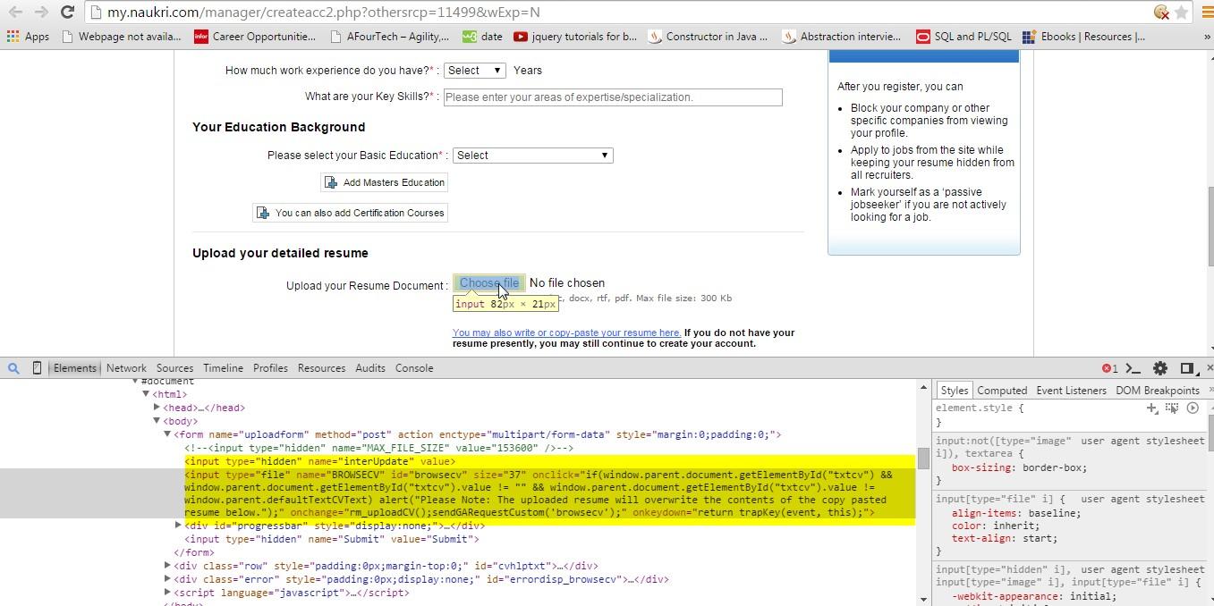 Selenium Automation blogs By Avinash Pande: Upload file in Selenium
