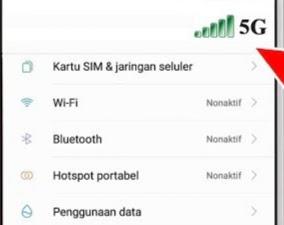 Cara Rubah Jaringan 4G ke 5G Untuk Pengguna Android
