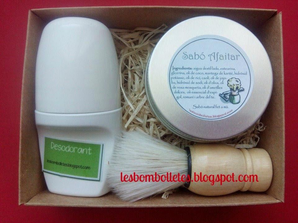 desodorante y jabón de afeitado