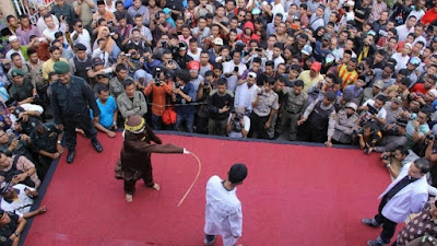 Public caning in Indonesia's Aceh province